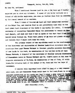 Mac letter Nov 25 1909