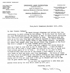 Crocker Land letter